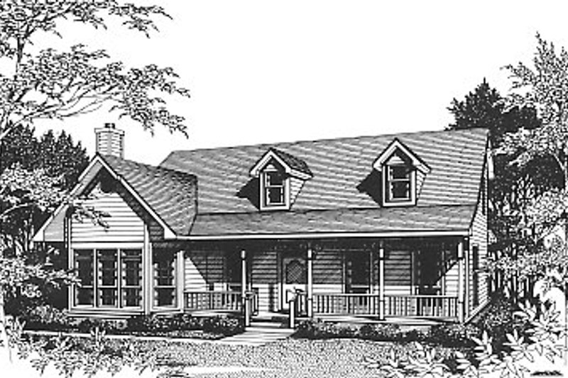 Country Exterior - Front Elevation Plan #14-207