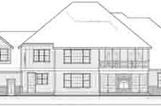 Traditional Style House Plan - 4 Beds 2.5 Baths 5927 Sq/Ft Plan #105-203 Exterior - Rear Elevation