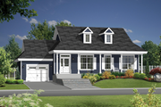 Country Style House Plan - 2 Beds 1 Baths 1200 Sq/Ft Plan #25-4387 Exterior - Front Elevation