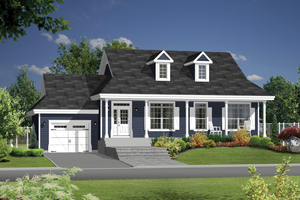 Country Exterior - Front Elevation Plan #25-4387
