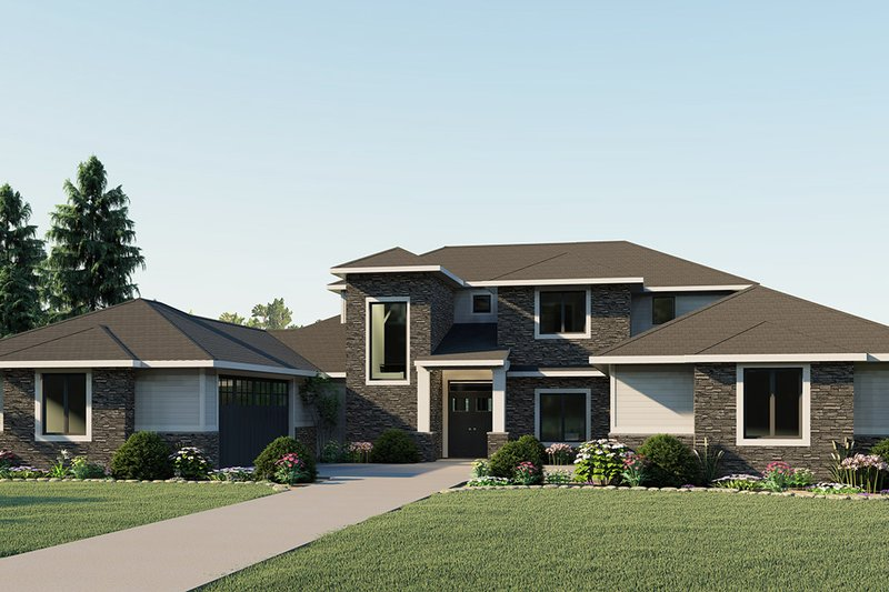 Modern Exterior - Front Elevation Plan #1064-19