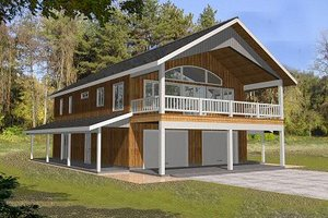 Dream House Plan - Traditional Exterior - Front Elevation Plan #117-535
