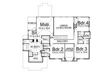 European Floor Plan - Upper Floor Plan Plan #119-250