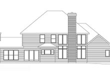 Home Plan - Traditional Exterior - Rear Elevation Plan #22-214