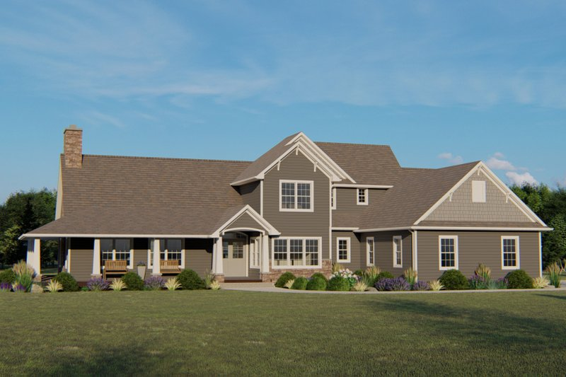 Dream House Plan - Cottage Exterior - Front Elevation Plan #1064-67