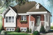 Cottage Style House Plan - 2 Beds 1 Baths 889 Sq/Ft Plan #25-4111 Exterior - Front Elevation
