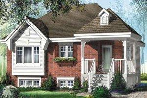 Cottage Exterior - Front Elevation Plan #25-4111