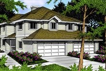Traditional Exterior - Front Elevation Plan #92-203
