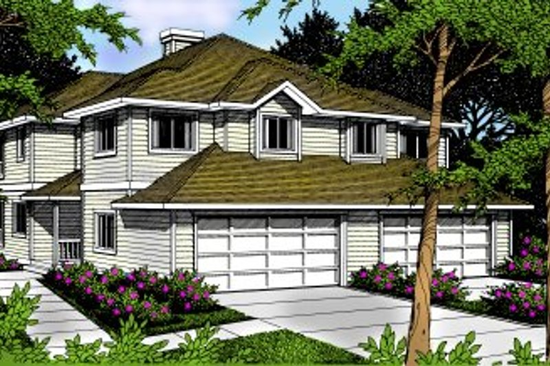 Architectural House Design - Traditional Exterior - Front Elevation Plan #92-203