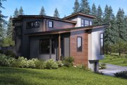 Modern Style House Plan - 3 Beds 2 Baths 3629 Sq/Ft Plan #1066-43 Exterior - Rear Elevation