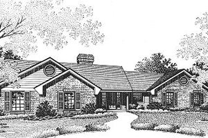 Ranch Exterior - Front Elevation Plan #310-602