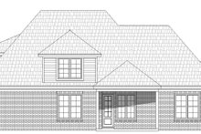 Country Exterior - Rear Elevation Plan #932-272