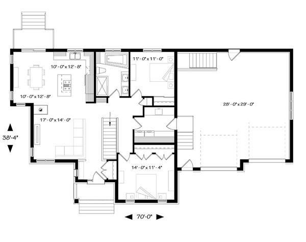 House Plan Design - Ranch Floor Plan - Main Floor Plan #23-2615