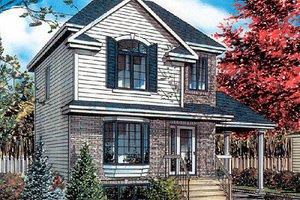 Cottage Exterior - Front Elevation Plan #138-186