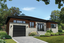 Dream House Plan - Contemporary Exterior - Front Elevation Plan #25-4908
