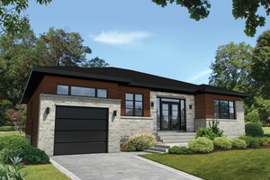 Contemporary Exterior - Front Elevation Plan #25-4908