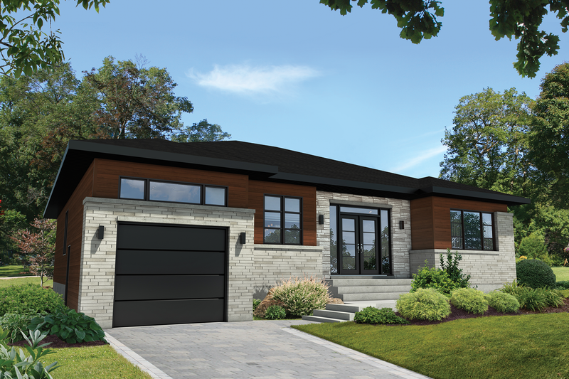 Home Plan - Contemporary Exterior - Front Elevation Plan #25-4908