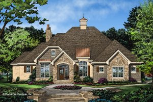 Ranch Exterior - Front Elevation Plan #929-1049