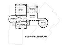 European Floor Plan - Upper Floor Plan Plan #120-177