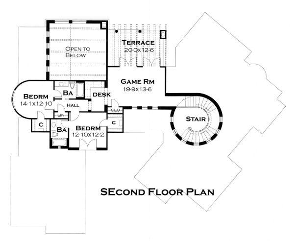 Home Plan - European Floor Plan - Upper Floor Plan #120-177