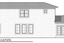 House Plan Design - European Exterior - Rear Elevation Plan #70-717