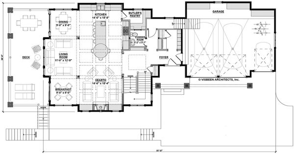 Country Floor Plan - Main Floor Plan Plan #928-297
