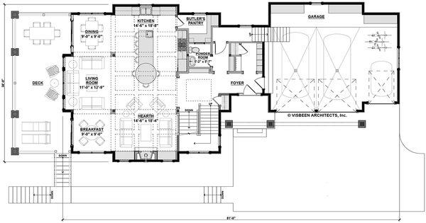 Architectural House Design - Country Floor Plan - Main Floor Plan #928-297