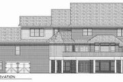 Country Style House Plan - 5 Beds 3.5 Baths 4025 Sq/Ft Plan #70-543 Exterior - Rear Elevation
