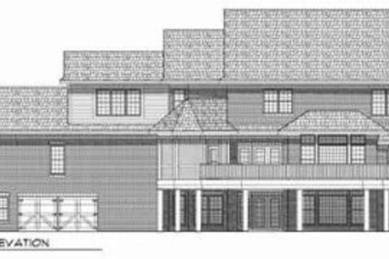 Country Exterior - Rear Elevation Plan #70-543 - Houseplans.com