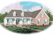 Country Style House Plan - 3 Beds 2 Baths 1997 Sq/Ft Plan #81-312 Exterior - Front Elevation