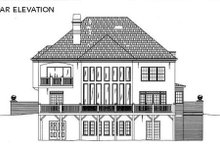 European Exterior - Rear Elevation Plan #119-122