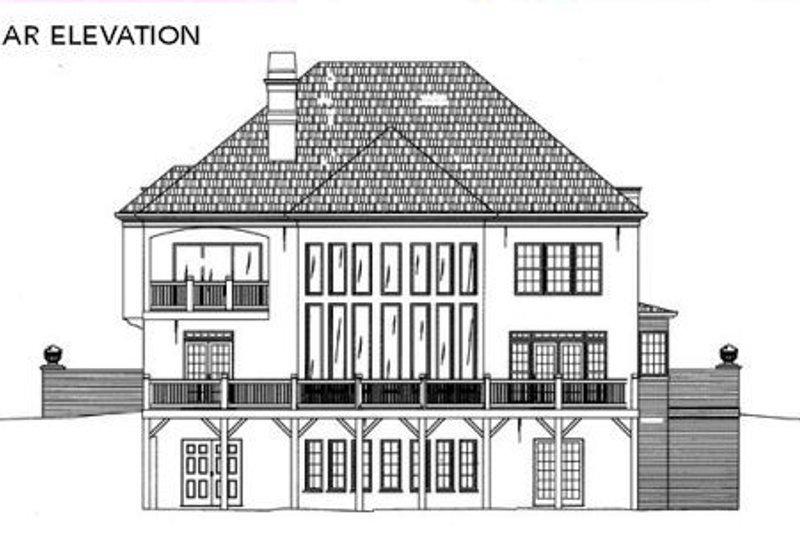 European Exterior - Rear Elevation Plan #119-122 - Houseplans.com