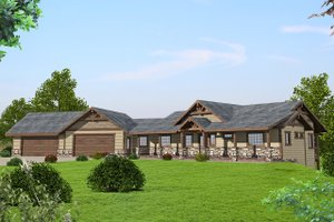 Ranch Exterior - Front Elevation Plan #117-875