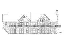 Home Plan Design - Craftsman Exterior - Rear Elevation Plan #57-321