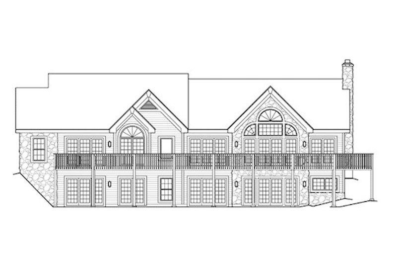 Craftsman Exterior - Rear Elevation Plan #57-321 - Houseplans.com