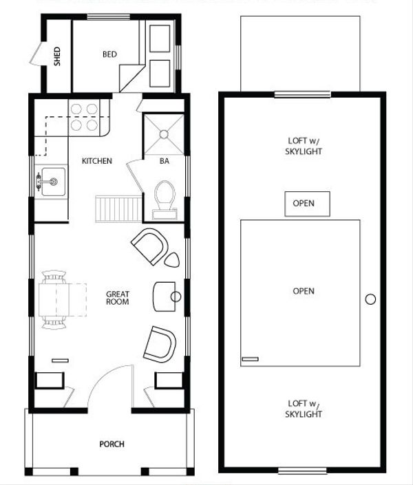 Cottage Floor Plan - Main Floor Plan Plan #896-5