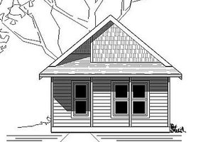 Cottage Exterior - Front Elevation Plan #423-45