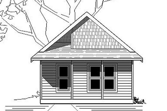 Cottage Exterior - Front Elevation Plan #423-45