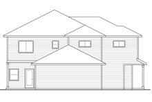House Plan Design - Country Exterior - Rear Elevation Plan #124-919