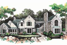 European Exterior - Front Elevation Plan #72-386