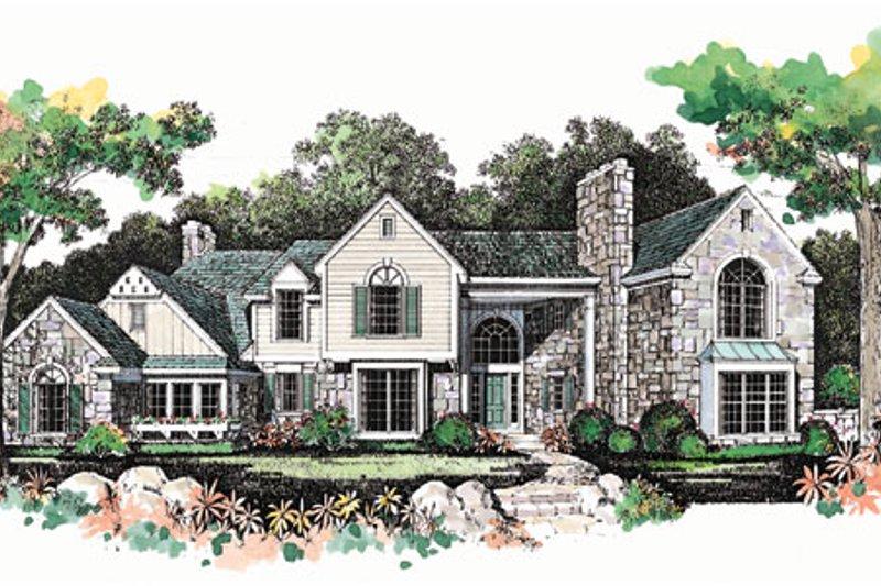 House Blueprint - European Exterior - Front Elevation Plan #72-386