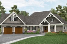 Architectural House Design - Craftsman Exterior - Front Elevation Plan #54-408