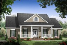 Southern Exterior - Front Elevation Plan #21-238