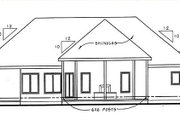Traditional Style House Plan - 3 Beds 2.5 Baths 1800 Sq/Ft Plan #312-644 Exterior - Rear Elevation