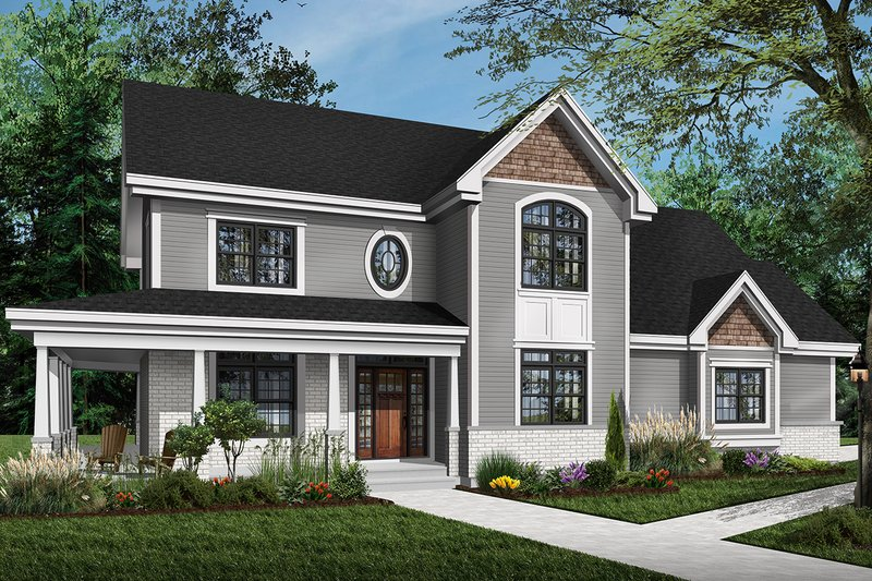 Home Plan - Country Exterior - Front Elevation Plan #23-2131