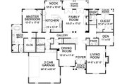 Traditional Style House Plan - 5 Beds 4.5 Baths 4921 Sq/Ft Plan #490-21 Floor Plan - Main Floor Plan