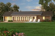 Ranch Style House Plan - 3 Beds 2.5 Baths 2338 Sq/Ft Plan #445-5 Exterior - Rear Elevation
