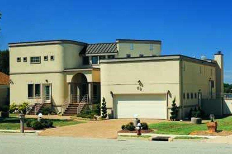 House Blueprint - Modern Exterior - Front Elevation Plan #72-175