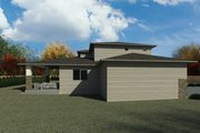 Contemporary Style House Plan - 5 Beds 3.5 Baths 4072 Sq/Ft Plan #1066-116 Exterior - Other Elevation