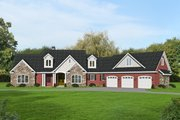 Traditional Style House Plan - 3 Beds 2.5 Baths 3510 Sq/Ft Plan #932-341 Exterior - Front Elevation